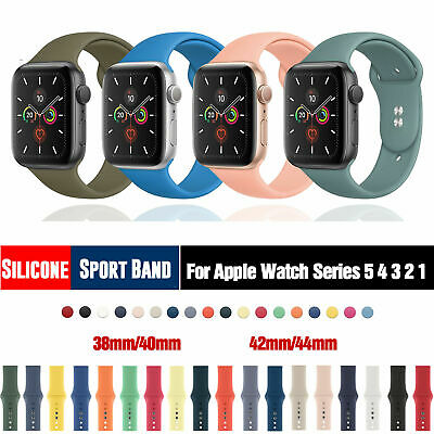 $ CDN2.52 • Buy 38/42/40/44mm Silicone Sports Band IWatch Strap For Apple Watch Series 5 4 3 2 1