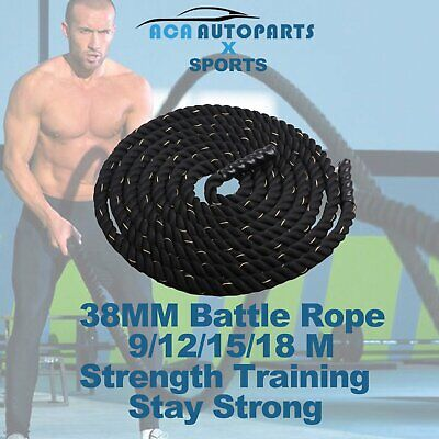 AU84 • Buy Home Gym Battle Rope Battling Strength Training Exercise Fitness 9M 12M 15M 18M