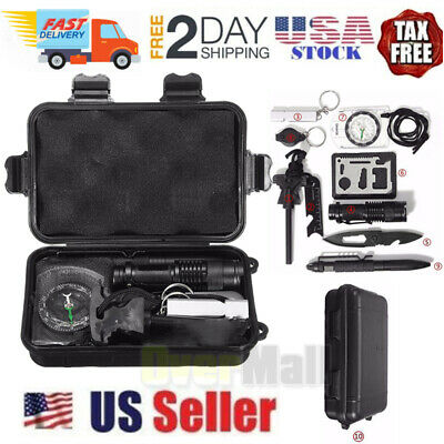 $16.99 • Buy 10 In 1 Outdoor Camping Survival Gear Kits Military Tactical Emergency EDC Tool
