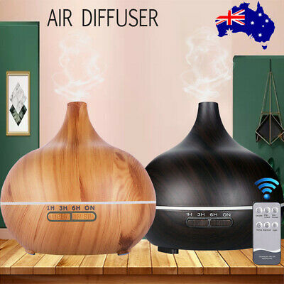 AU18.02 • Buy 550ml Air Humidifier Purifier Essential Oil Diffuser Aroma Aromatherapy Lamp LED
