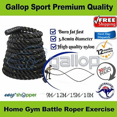 AU80 • Buy 38MM Home Battle Ropes 9m 12m 15m Body StrengthTraining Exercise Rope AU Stock