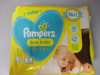 Pampers 22 Disposable Nappies  4-11bs  Size 1 Newborn • 3.99£