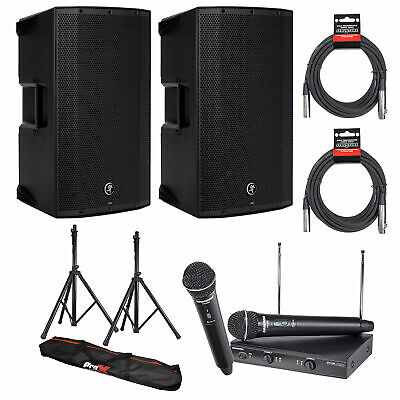 $999.99 • Buy (2) Mackie Thump12BST 12  Powered Loudspeaker W/ WL Mic Sys, Stands & Cables