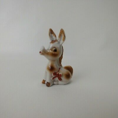 $14.99 • Buy Vintage Donkey With Bow Ceramic Porcelain Figurine Made In Japan Collectible