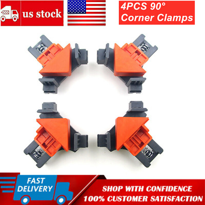 $15.99 • Buy 4Pcs/Set 90 Degree Right Angle Clip Clamps Corner Holders Woodworking Hand Tools