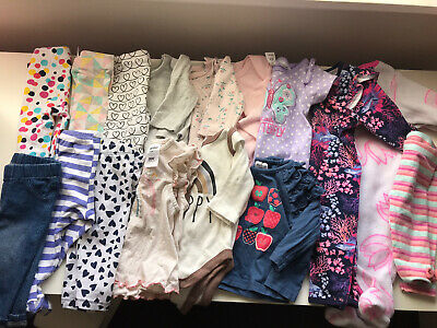 AU30 • Buy Baby Girl Clothing Bundle Size 0-3 Months 000 - Bodysuits, Tops, Bottoms