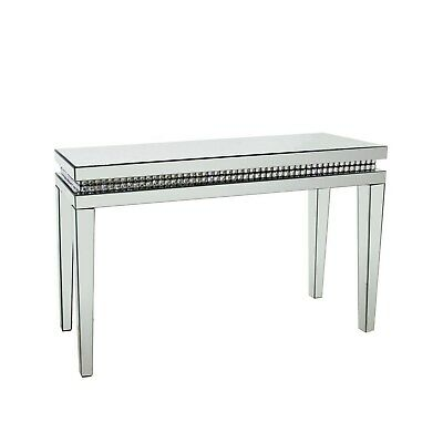 £224.96 • Buy Narrow Mirrored Hall Console Table With Diamond Gems - Jade Boutique