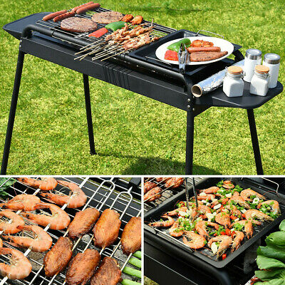 $73.99 • Buy BBQ Grill Charcoal Barbecue Cooker Home Outdoor Camping Picnics