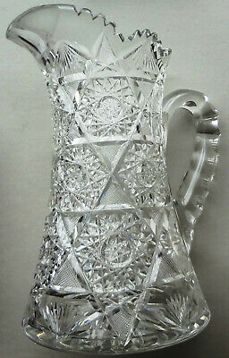 $338.77 • Buy ANTIQUE ABP Important ORNATE CUT GLASS PATTERN Large 10  PITCHER - 6.3 LBS.-MINT