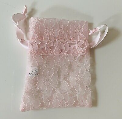 Small Pink Lace Favour Bag (10 Bags) • 4.50£