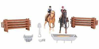 Horse & Jump Fence Playset With Accessories - Equestrian Toys - TL81 • 12.99£
