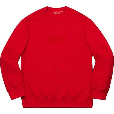$ CDN268.04 • Buy Supreme SS20 Cutout Logo Crewneck Box Logo Red Small