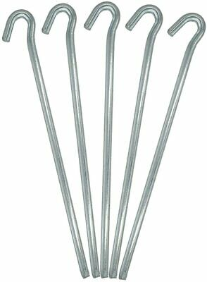 £2.95 • Buy 10 X Galvanised Metal Tent Pegs For Camping Gazebo Ground Sheet New