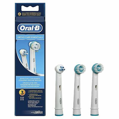£5.35 • Buy Oral-B Toothbrush Replacement Brush Heads Ortho Care Essentials Good For Braces!