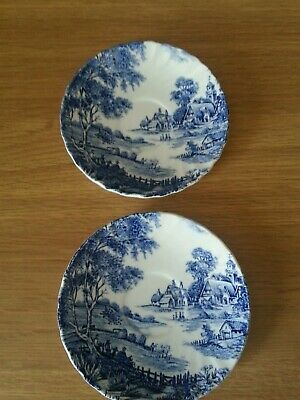 Ridgway Ironstone Pottery Pin Dishes 2x. Meadowsweet • 0.99£