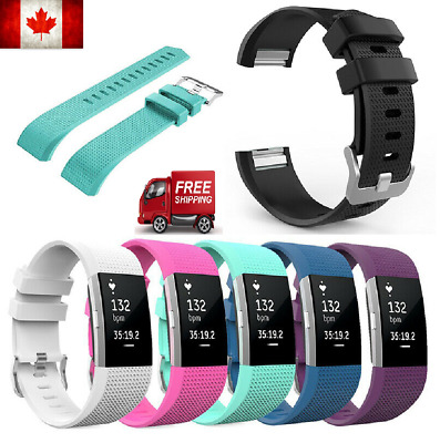 $ CDN9.99 • Buy FOR Fitbit CHARGE 2 Replacement Silicone Rubber Band Strap Band Bracelet CA