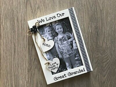 £10.95 • Buy Personalised Great Grandad Pops Fathers Day Photo Picture Frame Keepsake Gift