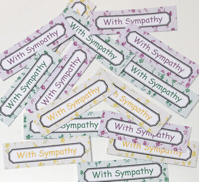 £1.09 • Buy 12 WITH SYMPATHY Sentiments/Banners Hand Made Card Toppers DELICATE FLOWERS 6cm