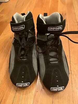 $109.99 • Buy Rare New Simpson Racing Driving Shoes Size 9 ~ Mid-top ~ Fs120bk