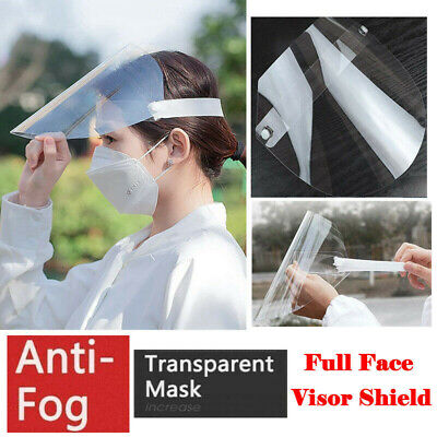 10 Pcs Full Face Visor Safety Mask PPE Shield Protection Cover Reusable Plastic  • 11.99£