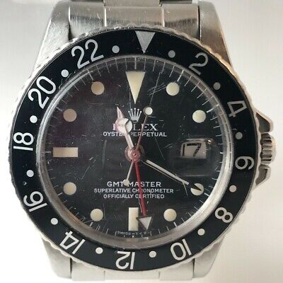 $ CDN21225.70 • Buy Vintage Rolex GMT-Master 1967 Black Dial Automatic Mens Watch 1675
