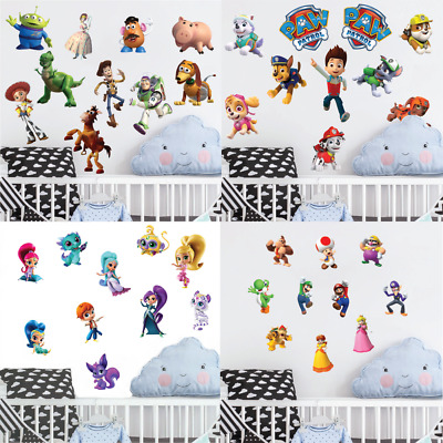 Variety Of Wall Art Stickers Vinyl Decal 3d Effect Kids Boys Girls Bedroom Decor • 7.99£