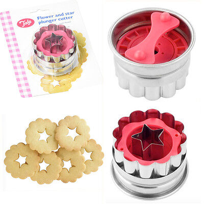 Cookie Plunger Cutter Flower Biscuit Bake Mold Mould Fondant Stainless Steel  • 6.98£