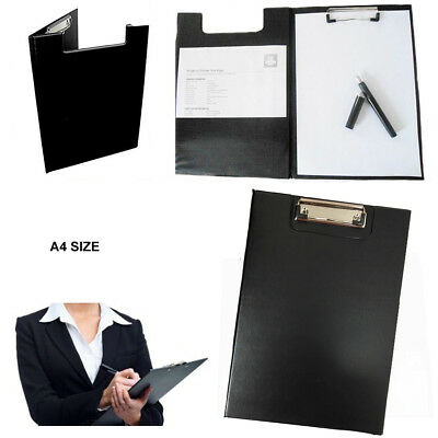 A4 Clipboard Board Clip Fold Writing Holder Office Document Pad Hard Filing Hand • 2.99£