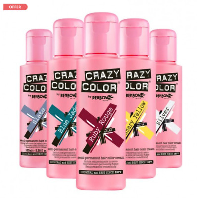 £6.99 • Buy Crazy Colour Semi Permanent Hair Dye 100ml All Colours Available