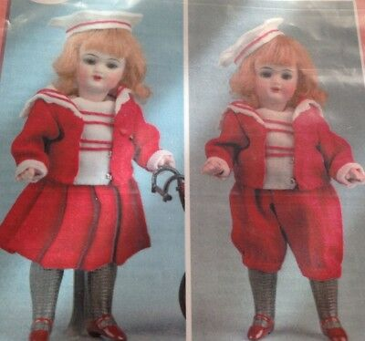 Antique French/German 6  MIGNONETTE DOLL   Boy Girl   Costume Pattern • 11.19£