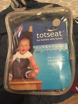 Denim Totseat - Portable, Washable Highchair For Babies 8 - 30 Months. • 5.50£