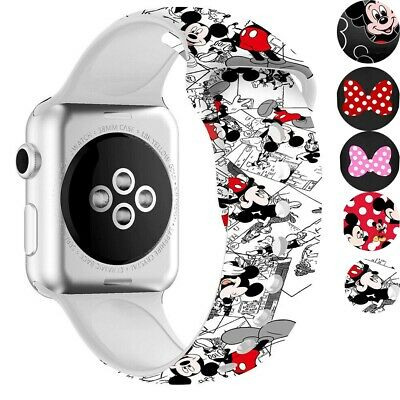 $ CDN7.77 • Buy For Apple Watch Armband Nettes Mickey Mouse Weiches Silikonband Series 6 5 4 3 2