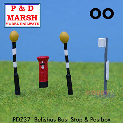£8.70 • Buy BELISHAS, BUS STOP & POSTBOX Painted Ready To Place P&D Marsh OO Gauge Z37