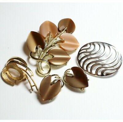 $ CDN55 • Buy Vintage Lot Of CORO Silver-Tone & Gold-tone Brooch And Earring Lot