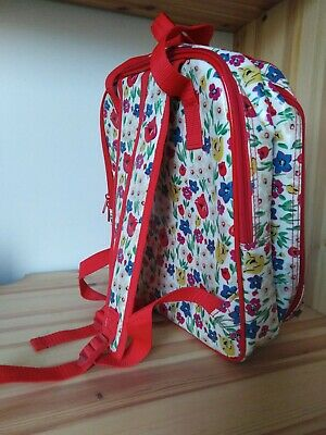 Cath Kidston Adult Laptop Backpack Rucksack Floral Oilcloth Fit 13in Laptop USED • 20£