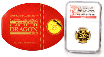 $574.99 • Buy 2012 P $25 Australia Gold Dragon NGC PF70 Ultra Cameo 1st 400 Struck FS 1/4oz.