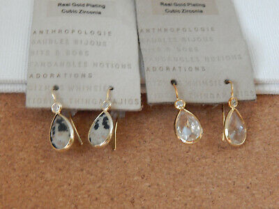 $ CDN33.83 • Buy Earrings Anthropologie 2 Pairs Small Dangle Hook Sparkly Cream Nwt $64