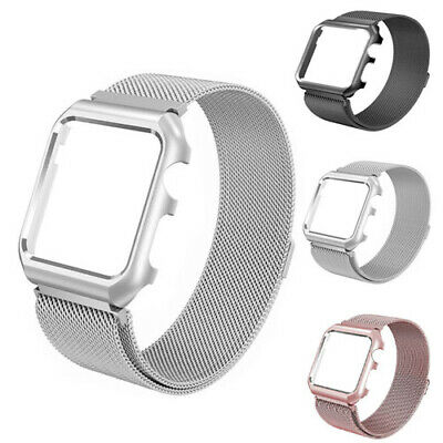 $ CDN11.99 • Buy Milanese Magnetic Metal Watch Band  Strap + Frame Case For IWatch Series 3 2 1