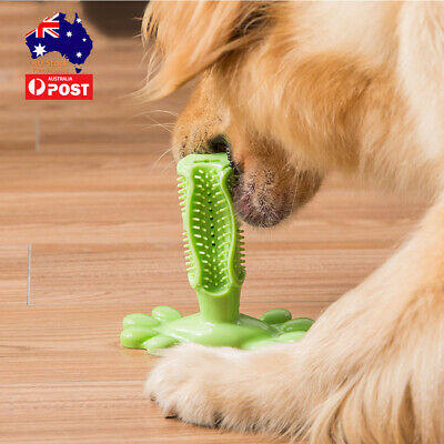 AU15.99 • Buy Dog Teething Toy Puppy Pet Teeth Cleaner Dental Healthy Rubber Chew Play Dog Toy