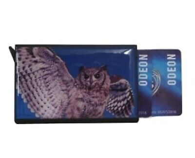 Credit Card Holder ID Protector Slim Auto Pop Up Money Clip Pouch Gift Owl Print • 4.92£