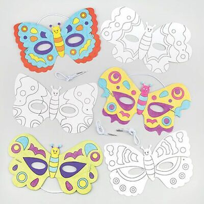 £4.99 • Buy Childrens Colour-in Mask Kit Kids Crafts Paint Decorate Creative Fun Activity