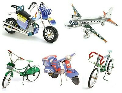 £13.95 • Buy Racing Bike Bicycle Scooter Airplain Model Ornament Made From Recycled Cans