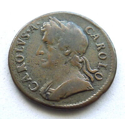£44.99 • Buy Charles Ii Farthing 1674, About Fine, Nice Legends + Date. 5gr. Km#436.1 Sp#3394