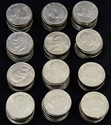 $31.50 • Buy One Roll (20 Coins) 1971-78 Eisenhower/Ike Dollars Mixed Dates Nice XF- AU Coins