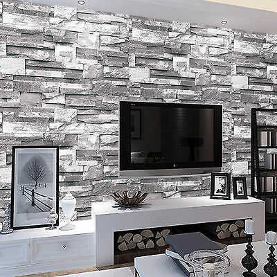 3D Luxury Victorian Embossed 10M Wallpaper Stone Feature Design Wall Paper Roll • 7.59£