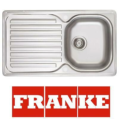 Franke ELN611-86 1.0 Bowl Stainless Steel Kitchen Sink With Waste Kit & Overflow • 74.99£