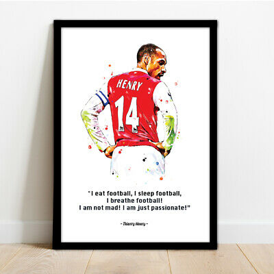 £14.99 • Buy Arsenal - Thierry Henry Framed Football Print Poster