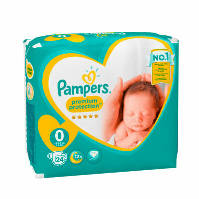 Pampers  Premature Newborn Pack Of 24 Nappies  2-5lbs   New - Size 0  • 4.49£