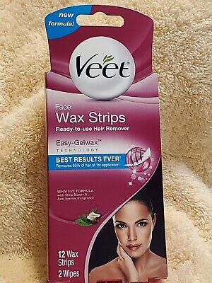 $6.45 • Buy Veet Face Wax Trips~ Ready-to-use Hair Remover. 12 Wax Strips, 2 Wipes.read Post