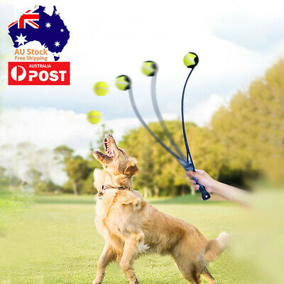 AU14.99 • Buy Dog Toy Dog Tennis Ball Launcher Thrower Interactive Fetch Toy 50cm In Length